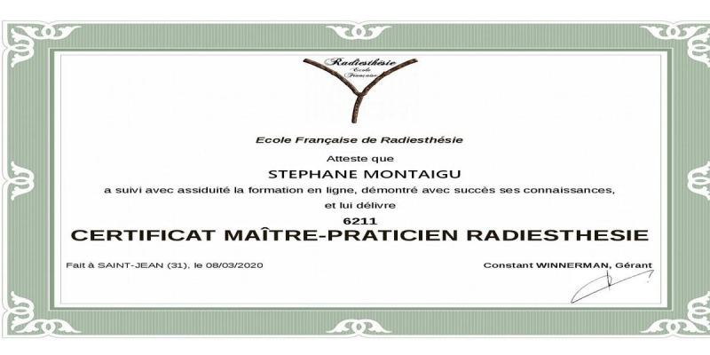 Certificat maitre praticien radiesthesie page 001